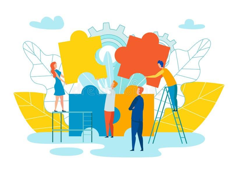 Team Formation et illustration de vecteur de développement illustration libre de droits