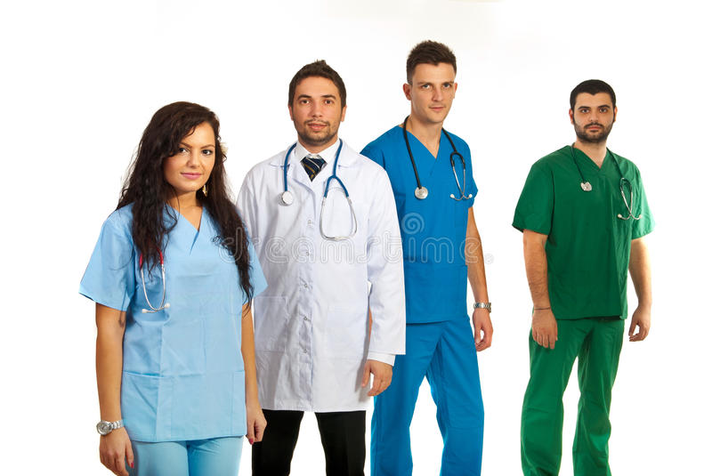 Download Team of four doctors stock image. Image of look, professional - 28542889