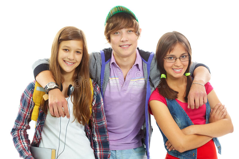 Download Team of friends stock photo. Image of looking, folded - 23040072