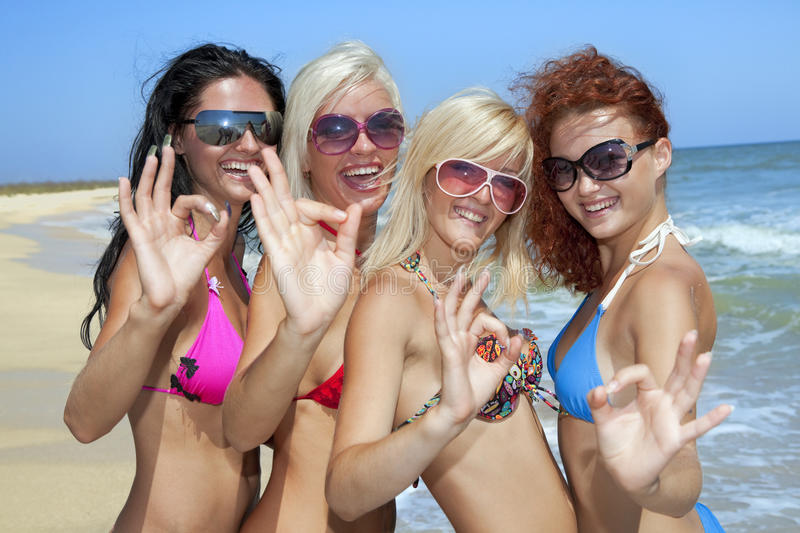 Download Team Of Friends Having Fun At The Beach Stock Image - Image: 17207395