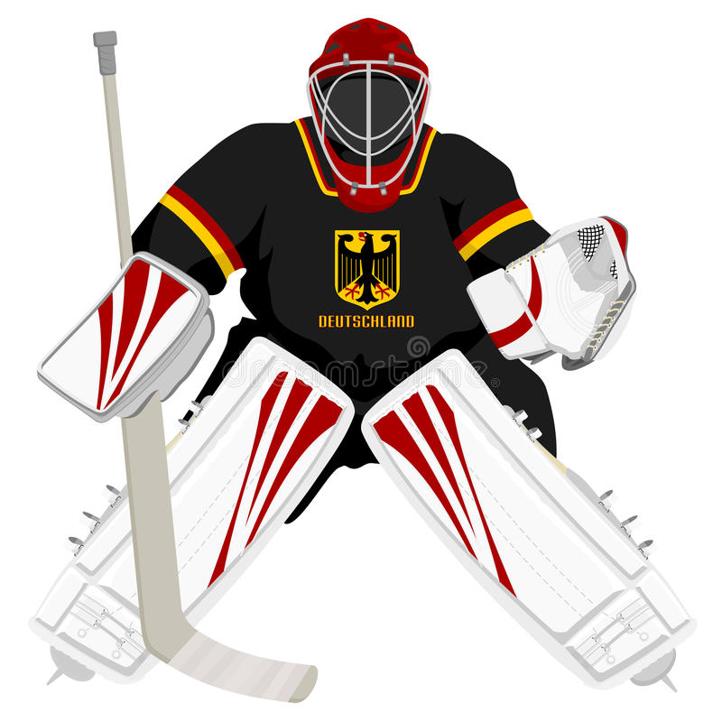 Download Team Germany hockey goalie stock vector. Image of sport - 22175739