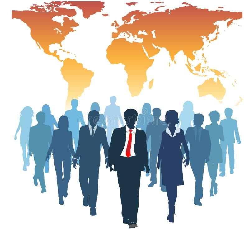 team globala mänskliga folkresurser för affär arbete stock illustrationer
