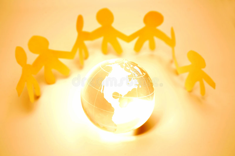 Download Team and globe stock illustration. Image of cooperate - 4350587