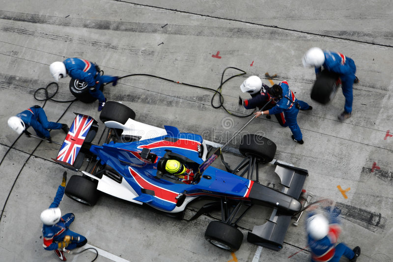 Team Great Britain A1 pit stop stock photos