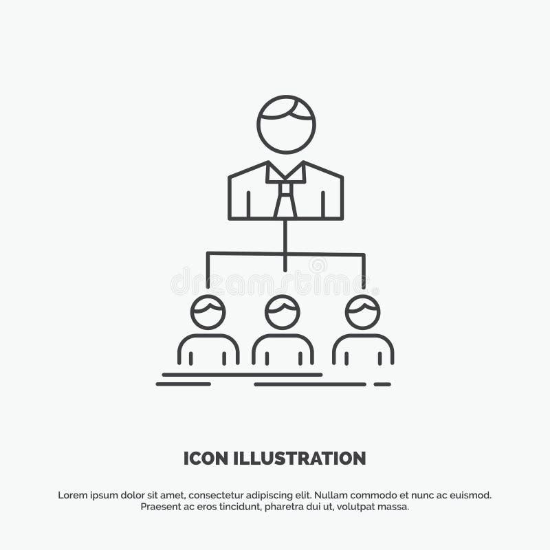 team, groepswerk, organisatie, groep, bedrijfpictogram Lijn vector grijs symbool voor UI en UX, website of mobiele toepassing vector illustratie