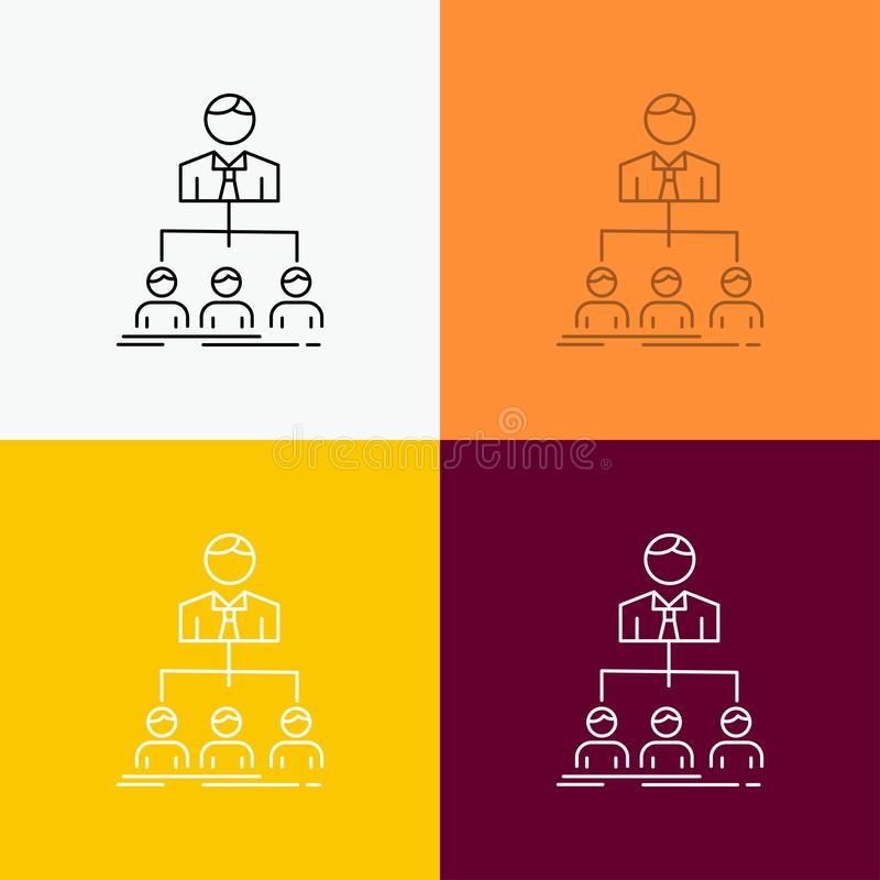 team, groepswerk, organisatie, groep, bedrijfpictogram over Diverse Achtergrond r Eps 10 royalty-vrije illustratie
