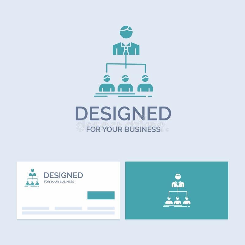 team, groepswerk, organisatie, groep, bedrijfzaken Logo Glyph Icon Symbol voor uw zaken Turkooise Visitekaartjes met vector illustratie