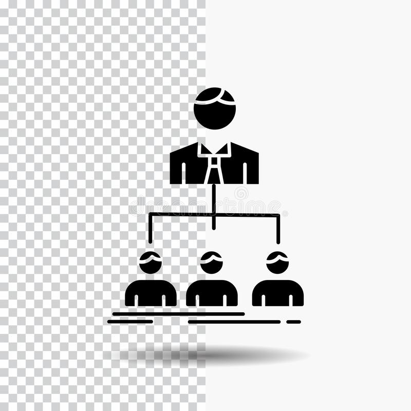 team, groepswerk, organisatie, groep, het Pictogram van bedrijfglyph op Transparante Achtergrond Zwart pictogram stock illustratie