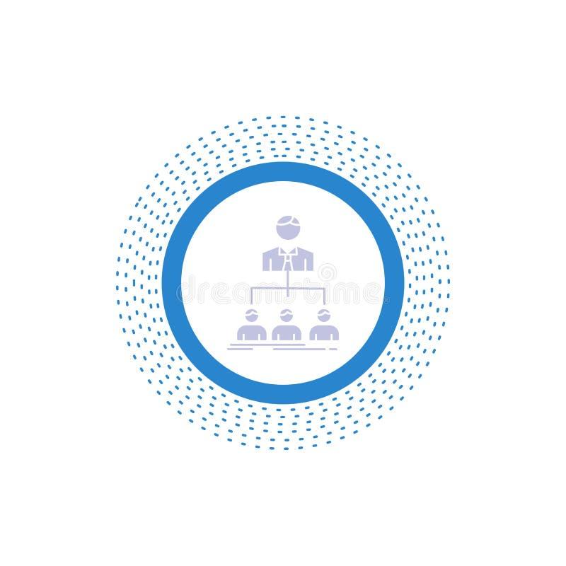 team, groepswerk, organisatie, groep, het Pictogram van bedrijfglyph Vector ge?soleerde illustratie royalty-vrije illustratie
