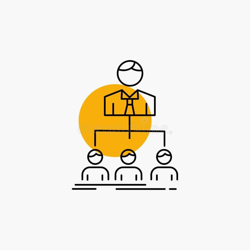 team, groepswerk, organisatie, groep, het Pictogram van de bedrijflijn vector illustratie