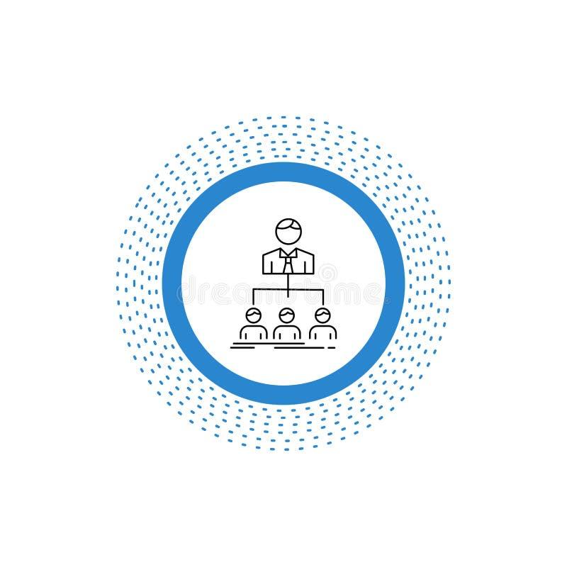 team, groepswerk, organisatie, groep, het Pictogram van de bedrijflijn Vector ge?soleerde illustratie vector illustratie