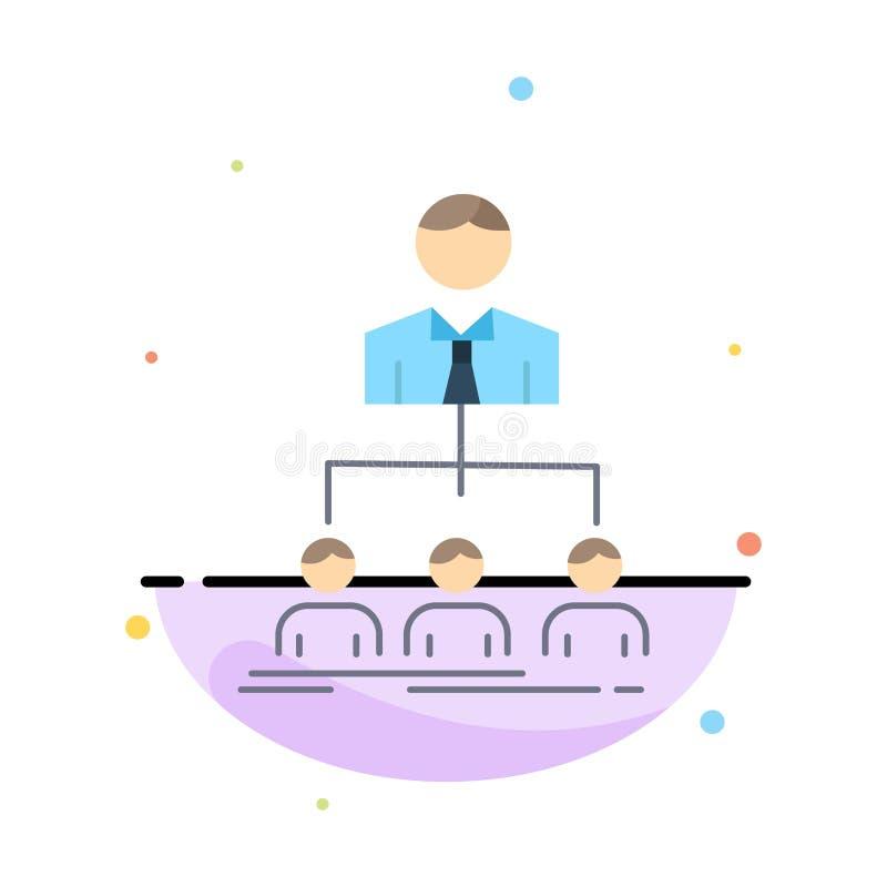 team, groepswerk, organisatie, groep, het Pictogramvector van de bedrijf Vlakke Kleur vector illustratie