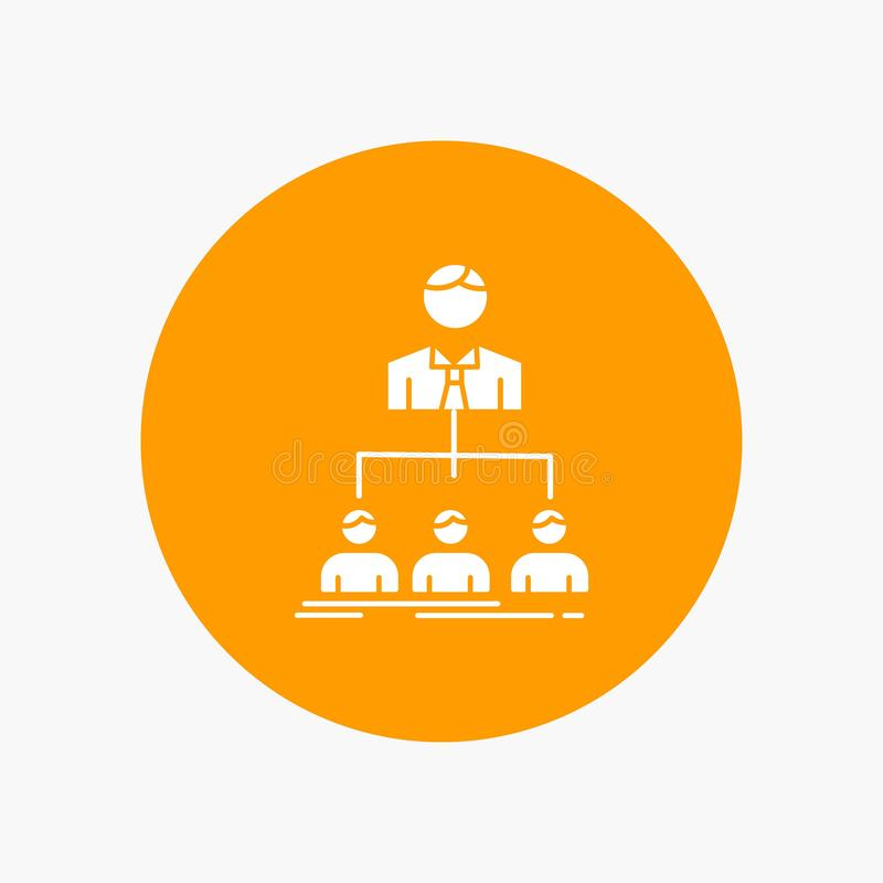 team, groepswerk, organisatie, groep, Pictogram van bedrijf het Witte Glyph in Cirkel Vectorknoopillustratie vector illustratie