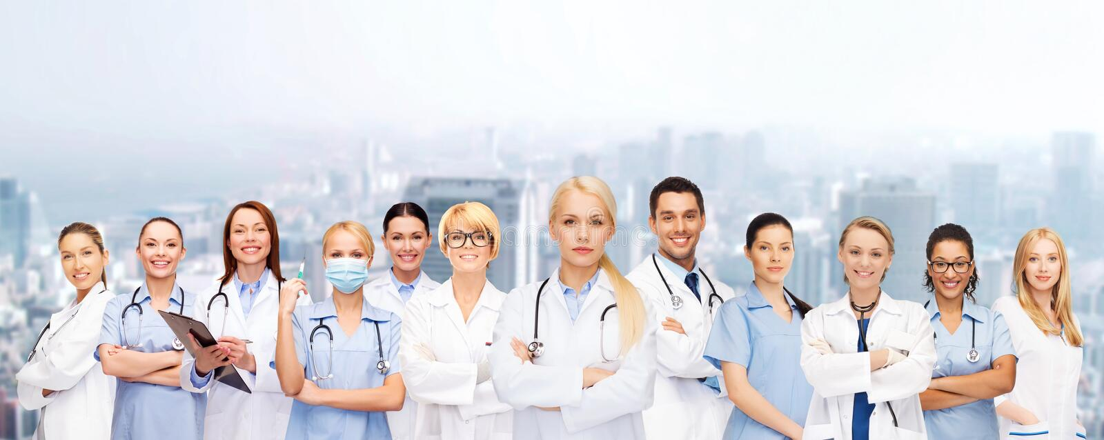 Download Team Or Group Of Doctors And Nurses Stock Image - Image of happy, background: 47520375