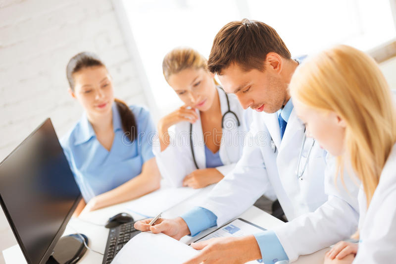 Team or group of doctors working royalty free stock photography
