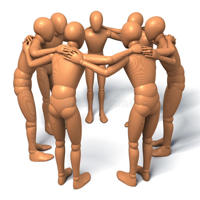 Download Team, Group Of Figures, Men In A Circle Talking, Debating, Conspiracy Stock Illustration - Image: 32085503