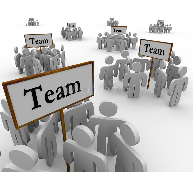 Team Groups Signs People Teamwork vector illustratie