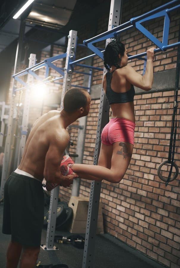 Team on the gym stock photos