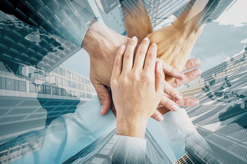 Teamwork and global concept stock photography