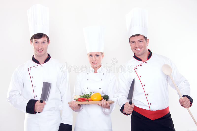 Download Team of happy chefs stock photo. Image of resort, kind - 21961474