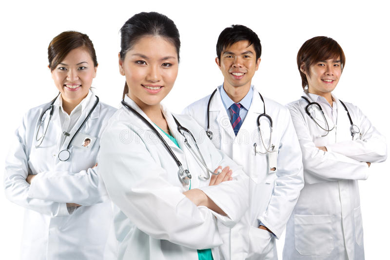 Download A team of a happy Doctors stock image. Image of hair - 23051569