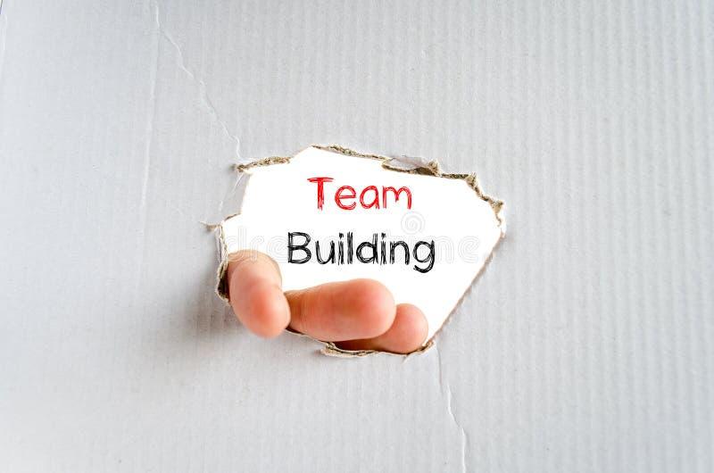 Team het concept van de de bouwtekst royalty-vrije stock afbeeldingen