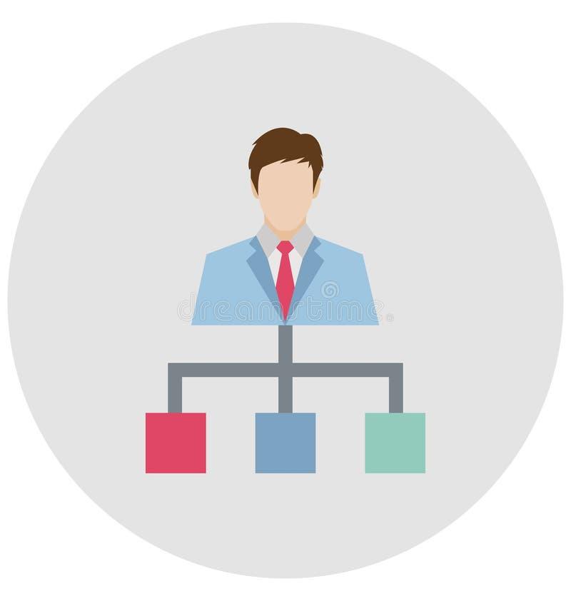 Team Hierarchy Color ha isolato l'icona di vettore che può essere modificata o pubblicare facilmente illustrazione vettoriale