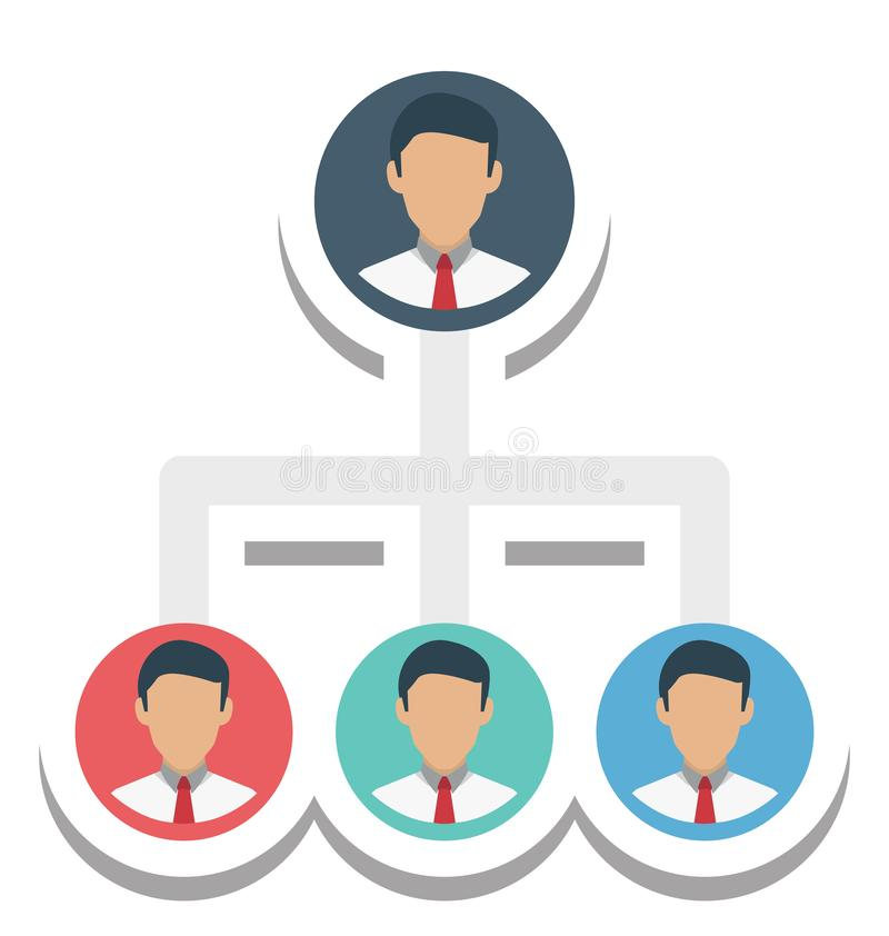 Team Hierarchy Isolated Vector Icon stock illustration