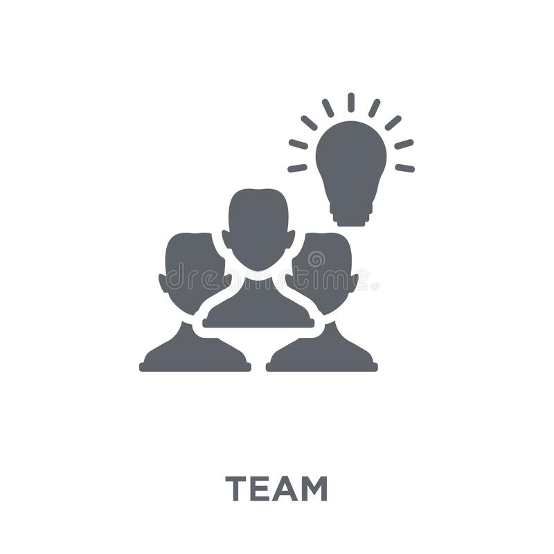 Team icon from collection. stock illustration