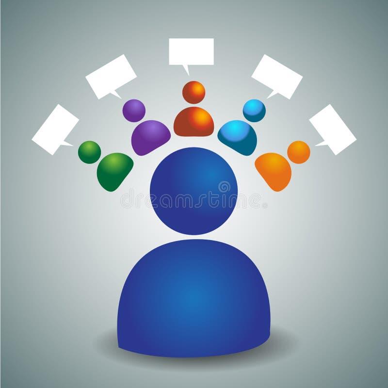 Team Icon consultivo ilustração stock