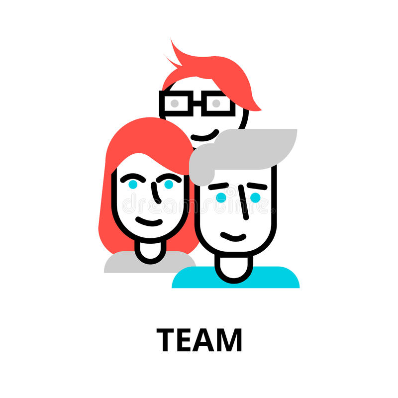 Team icon, for graphic and web design. Modern flat editable line design vector illustration, team icon, for graphic and web design vector illustration