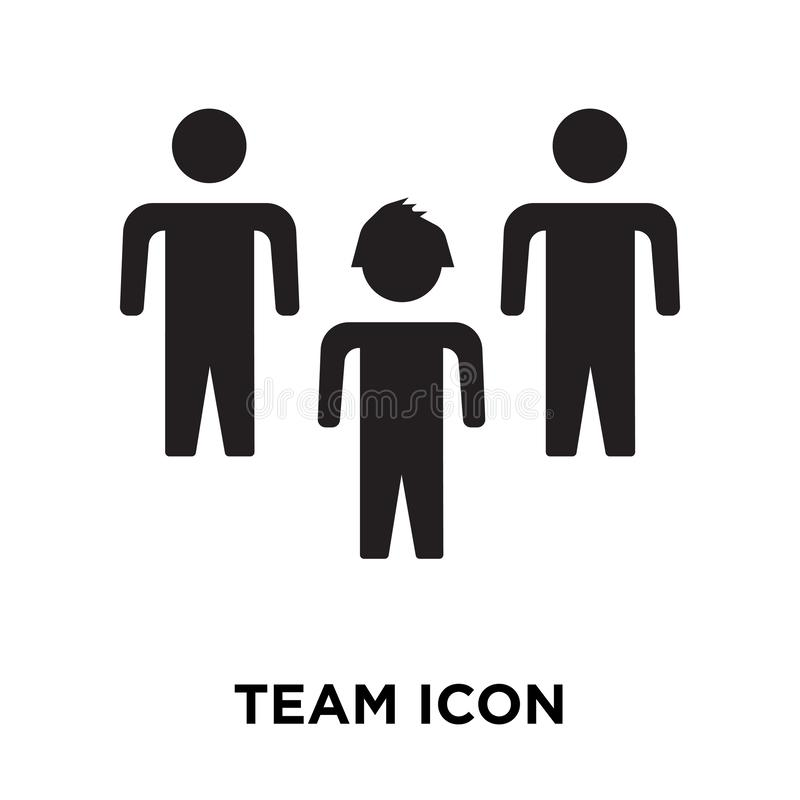 Team icon vector isolated on white background, logo concept of T stock illustration