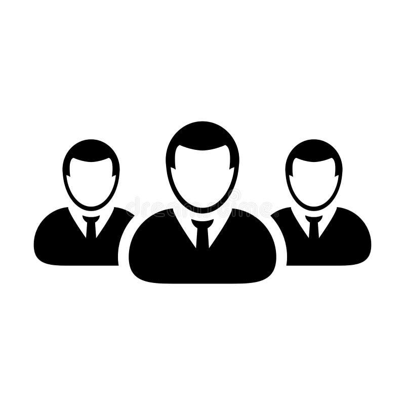 Team Icon Vector User Group dell'illustrazione del pittogramma della gente illustrazione di stock