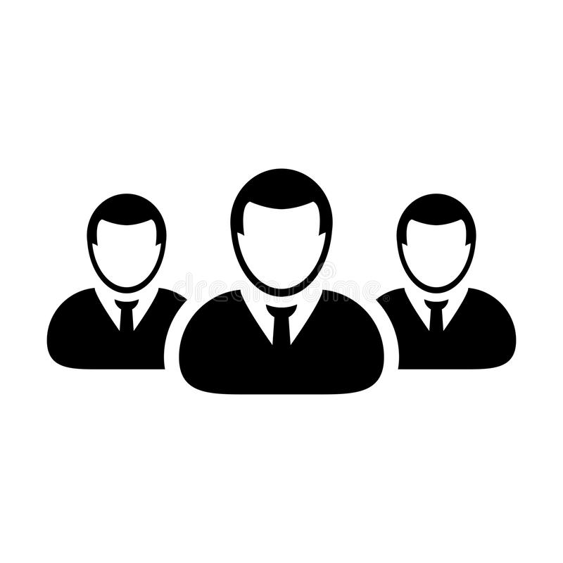 Team Icon Vector User Group der Leute-Piktogrammillustration stock abbildung