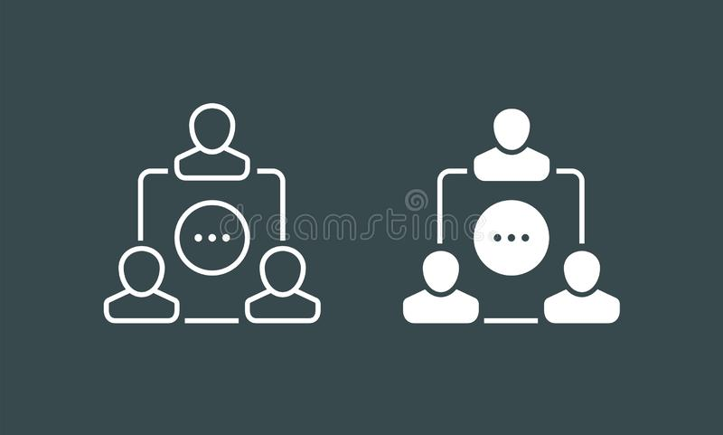 Team icons vector set. Group of people icons isolated. Business team icons collection. stock illustration