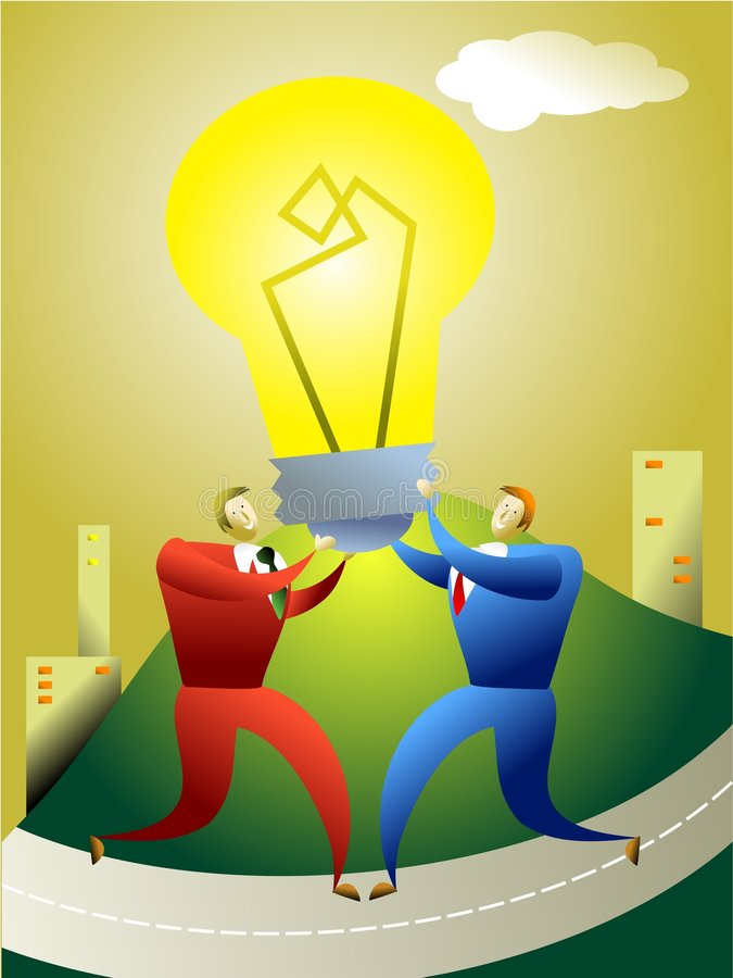 Team idea stock illustration