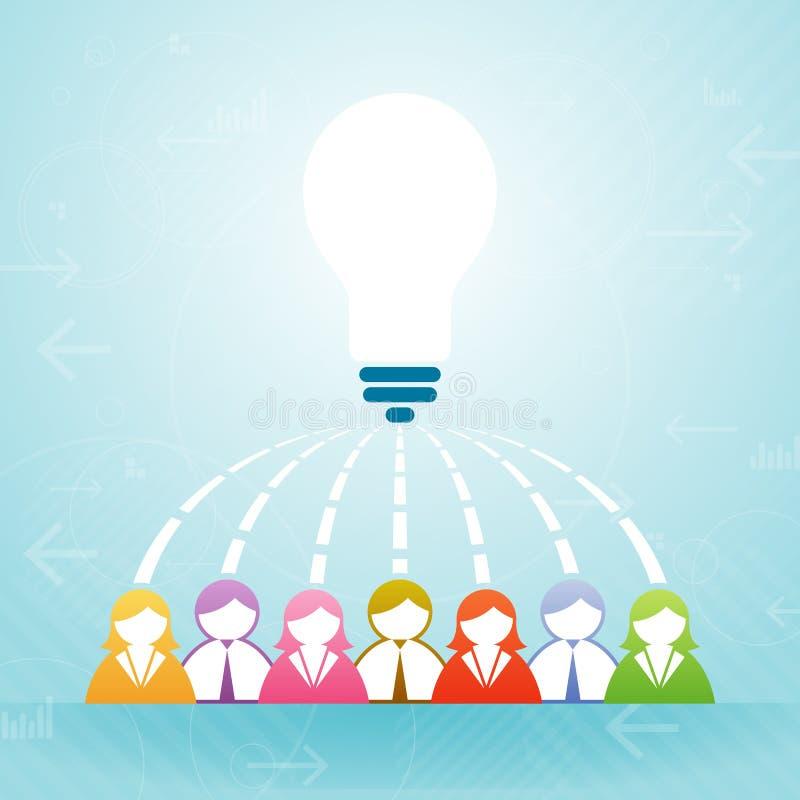 Team Idea Collaboration illustration de vecteur