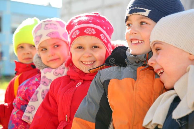 Team im Kindergarten lizenzfreies stockfoto