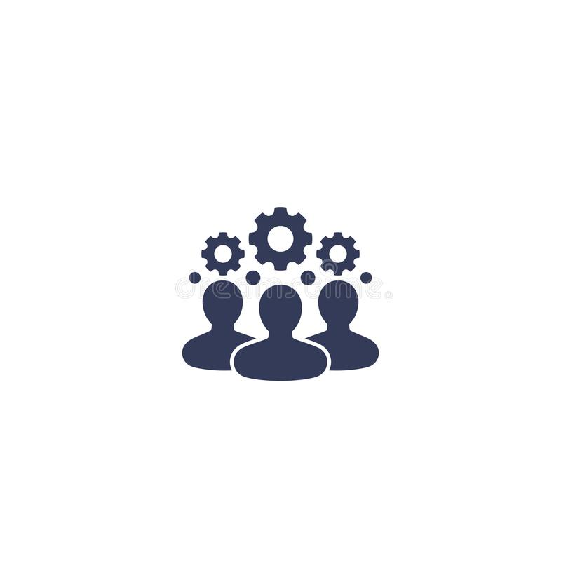 Team interaction, HR, management icon on white. Eps 10 file, easy to edit stock illustration