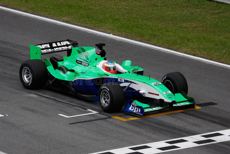 Team-Irlands. A. 1 GP-Auto beim Anfang stockfotografie