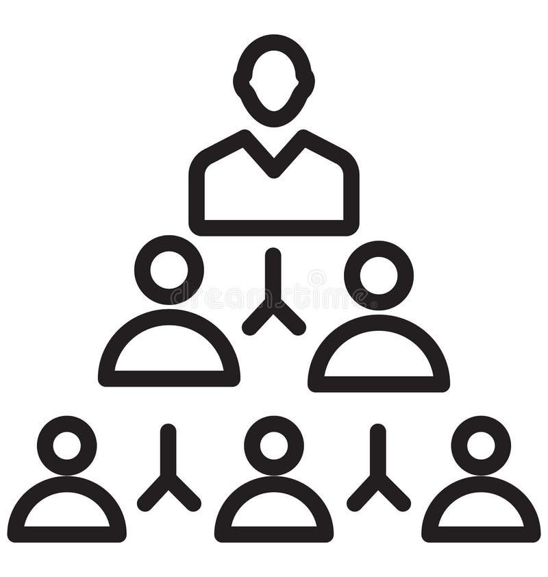 Team, isolerade vektorsymbolen för affären kan laget vara lätt redigerar och ändrar royaltyfri illustrationer