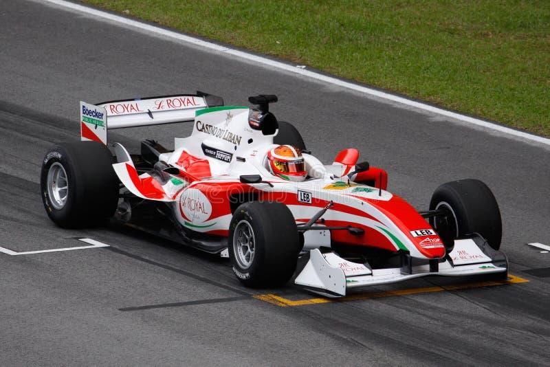 Team Italien A1 GP-Auto am beginnenden Rasterfeld stockbild