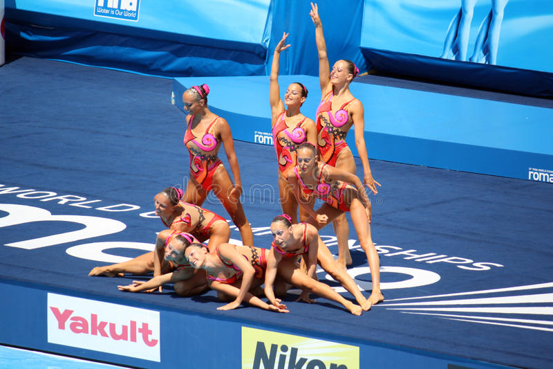 Team Italy 13 fina world championship stock photography