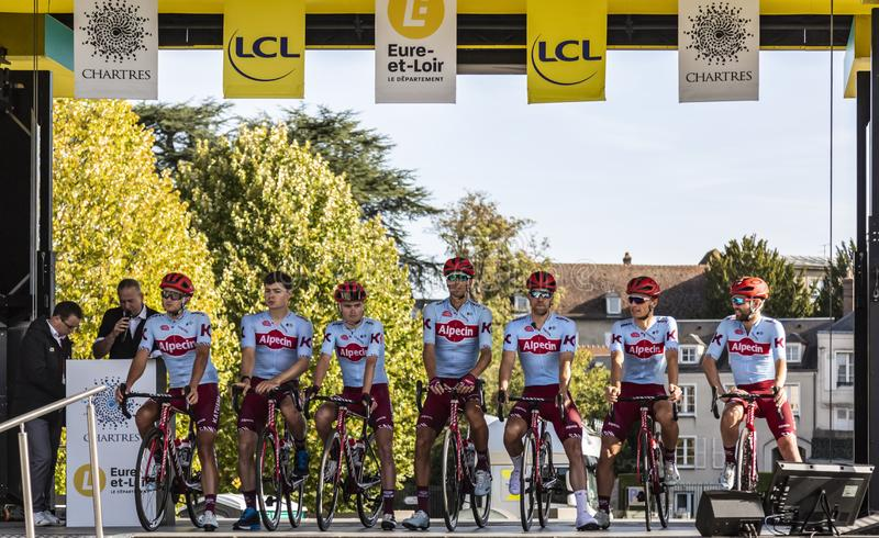 Team Katusha-Alpecin - Paris-Tours 2019 royalty free stock images