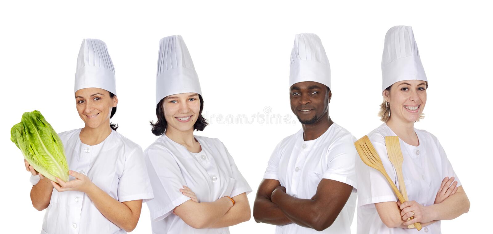 Team Of Kitchen Royalty Free Stock Photo