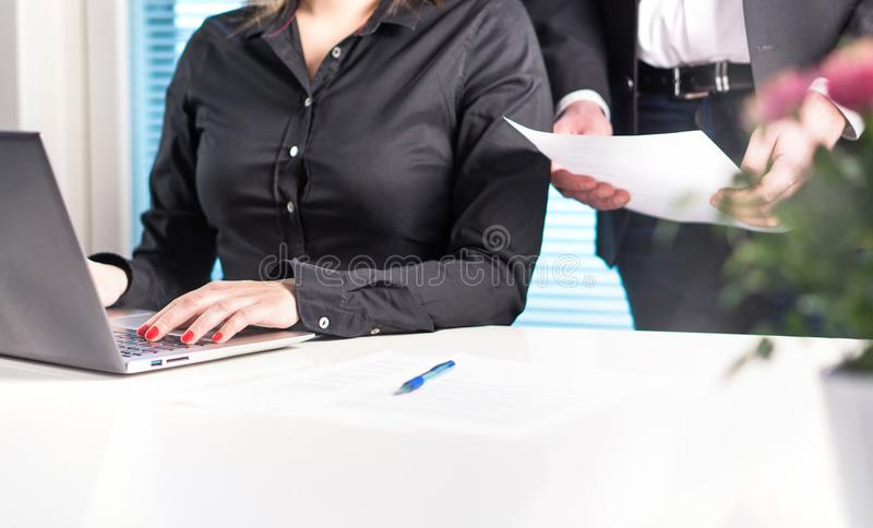 Team of lawyers or business people working together. stock photos