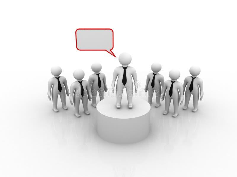 Team Leader. On white background stock illustration