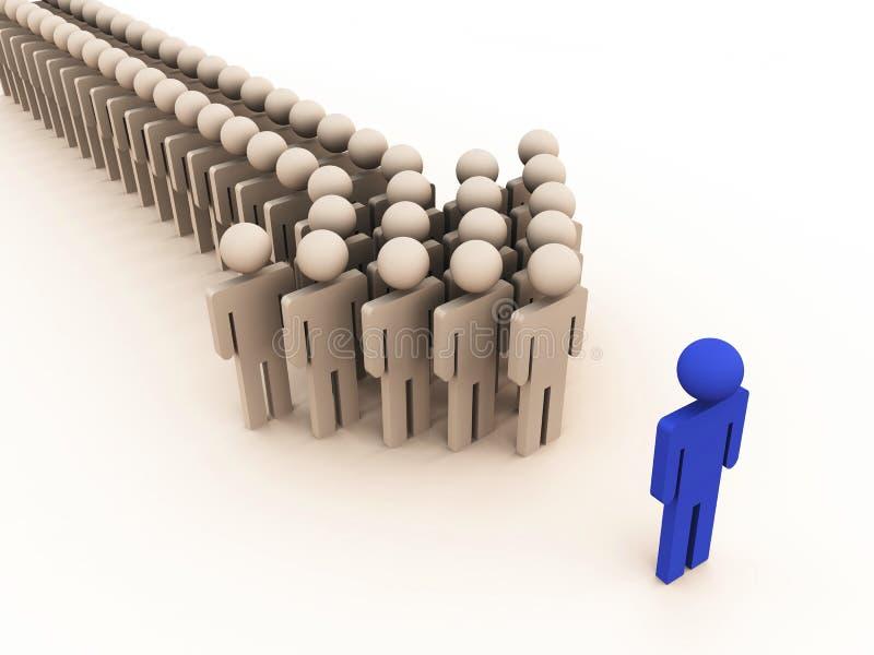 Download Team leader stock illustration. Illustration of partnership - 22500655