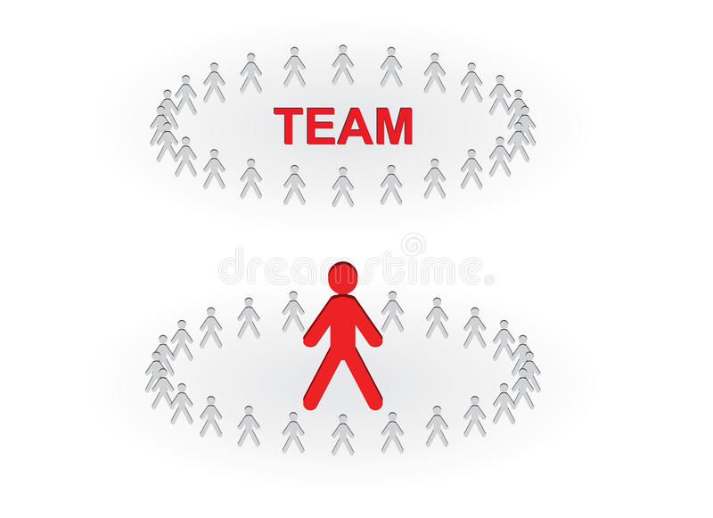 Download Team and leader stock vector. Image of work, teamwork - 23587075
