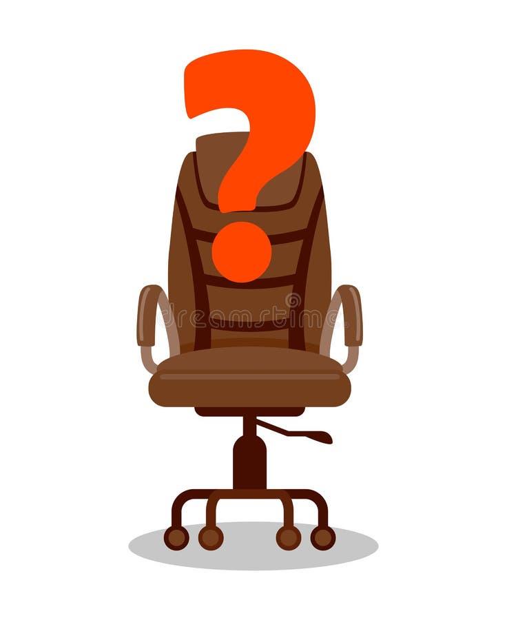 Team Leader, Boss Open Vacancy Vector Illustration stock illustration